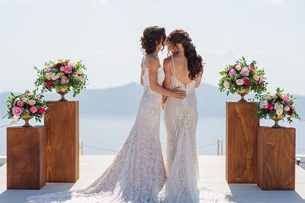 Ομορφος destination γαμος στη Σαντορινη