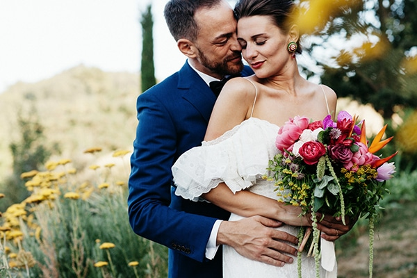 Ιδιαιτερος πολυχρωμος γαμος στην Ιταλια