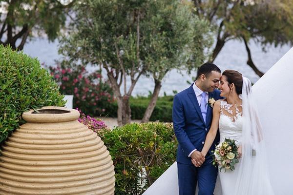 Καλοκαιρινός ρομαντικός γάμος σε peach – χρυσές αποχρώσεις | Κατερίνα & Ali