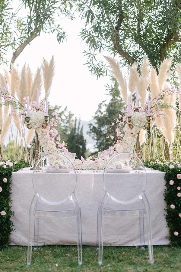 Διακοσμηση τραπεζιου γαμου με elegant στυλ