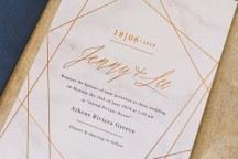 Προσκληση γαμου με χαλκινες λεπτομερειες