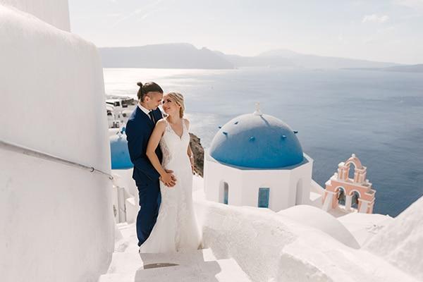 Ρομαντικός ονειρεμένος γάμος στη Σαντορίνη