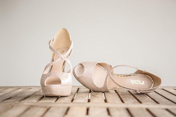 Νυφικά παπούτσια σε nude αποχρώσεις