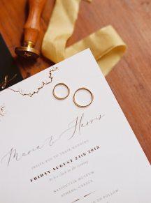 Προσκλητηρια γαμου σε λευκο χρωμα