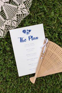Προσκλητήρια γάμου σε μπλε αποχρώσεις