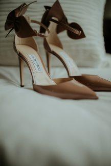 Νυφικά παπούτσια σε nude απόχρωση