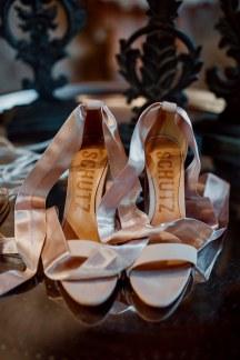 Νυφικα παπουτσια σε ροζ χρωμα
