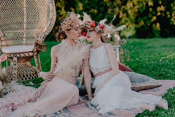 Stylish wedding inspiration with the prettiest colors