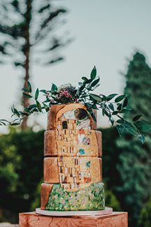 Τούρτα γάμου ζωγραφισμένη στο χέρι
