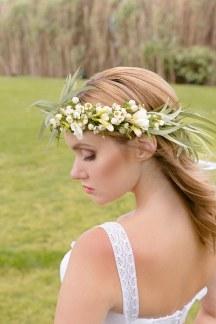 Ρομαντικο στεφανακι με λουλουδια