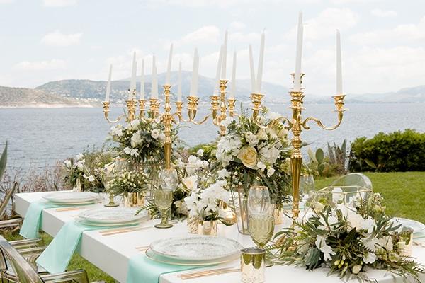 Όμορφη φωτογράφιση με χρυσές πινελιές και luxurious λεπτομέρειες