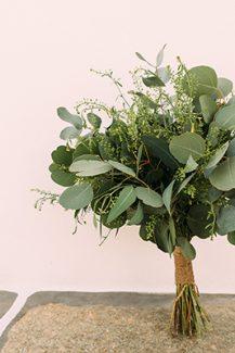 Νυφικη ανθοδεσμη με πρασιναδα