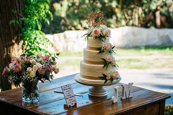 Ρομαντική τούρτα γάμου