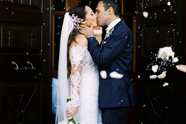 Elegant γαμος με τα πιο ομορφα λευκα λουλουδια | Francesca & Παυλος
