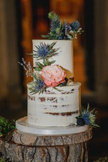 Nacked τούρτα γάμου