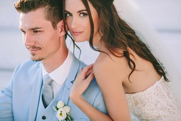 Ονειρικός elegant γάμος στη Σαντορίνη