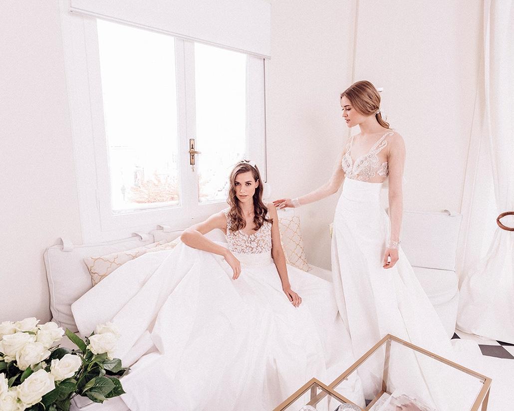 Ονειρική συλλογή νυφικών φορεμάτων με Γαλλικές δαντέλες και μεταξωτά τούλια | Maison Renata Marmara