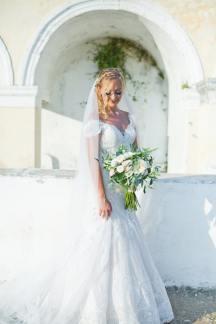 Ρομαντικο νυφικο φορεμα