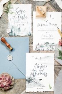 Προσκλητηρια γαμου με γκριζες λεπτομερειες