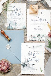 Προσκλητήρια γάμου με γκρίζες λεπτομέρειες