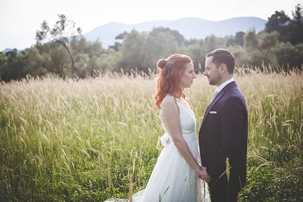 Παραμυθενιος καλοκαιρινος γαμος στην Αθηνα με ρομαντικο στυλ | Δωροθεα & Αριστειδης