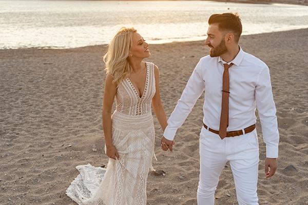 Ρομαντικός καλοκαιρινός γάμος σε παραλία | Χριστίνα & Γιώργος