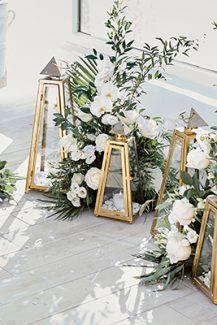 Ρομαντικη διακοσμηση δεξιωσης με κερια