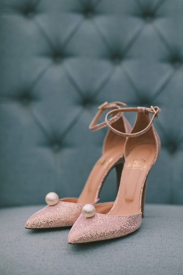 Chic νυφικα παπουτσια σε ροζ χρωμα