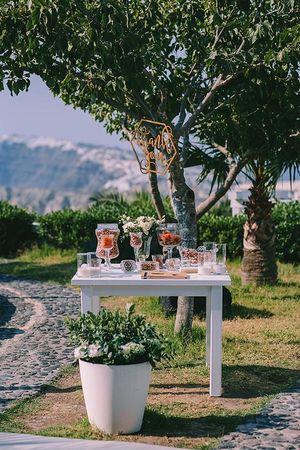 Υπέροχο welcome table