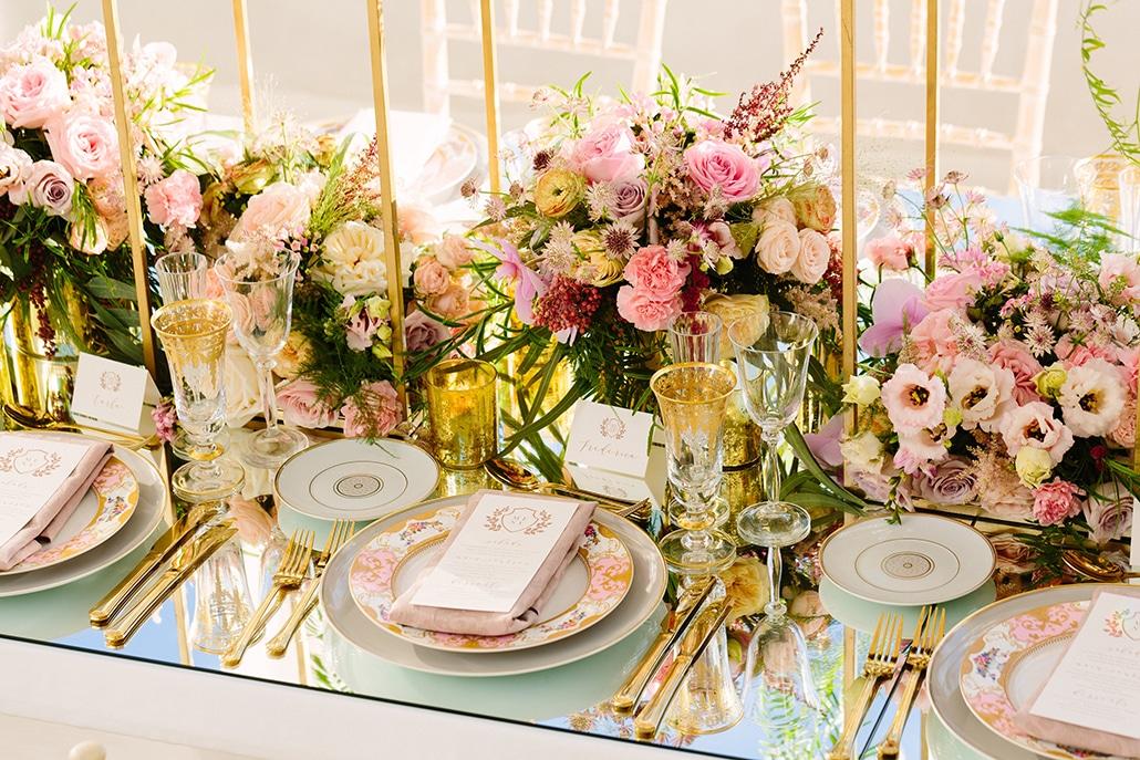 Pink wedding centerpieces we love
