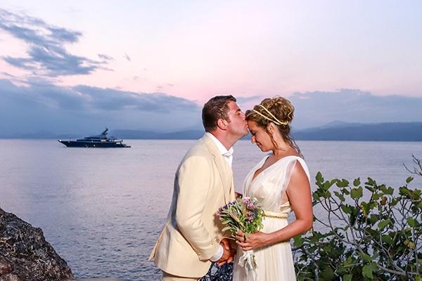 Όμορφος νησιώτικος γάμος με θέα τη θάλασσα | Μαντλέν & Γιάννης