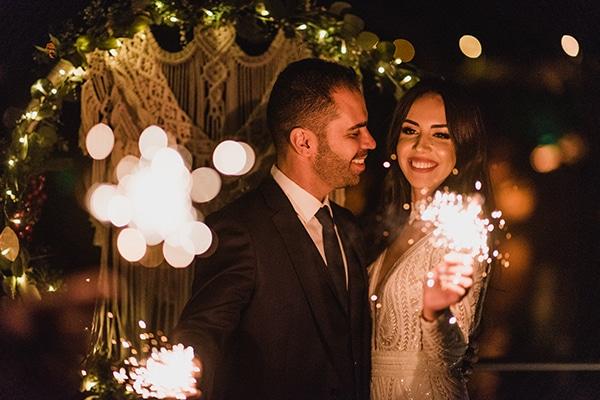 Χριστουγεννιάτικος elegant γάμος στη Δράμα με macramé λεπτομέρειες | Ελευθερία και Θανάσης