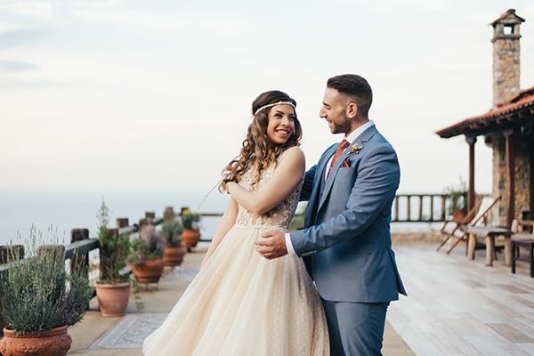 Μποέμ καλοκαιρινός γάμος με στάχυα και ηλίανθους στην Κατερίνη | Ματίνα & Νίκος