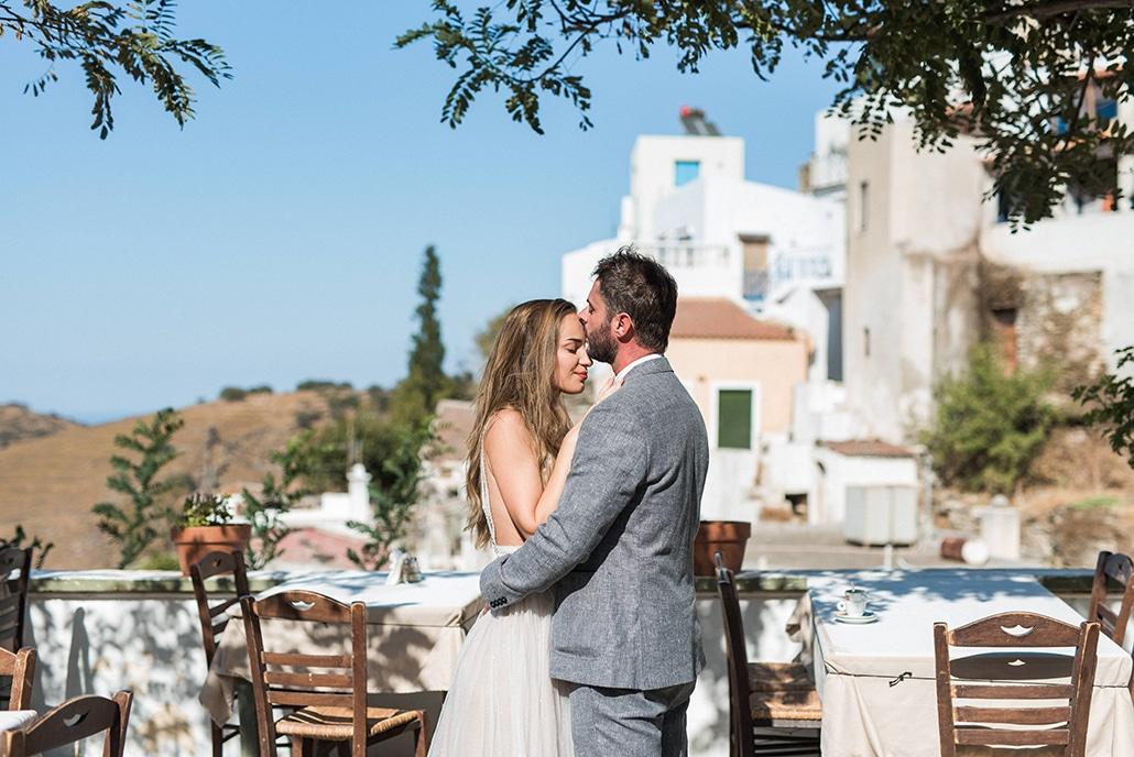 Καλοκαιρινός νησιώτικος γάμος στην Κέα με φόντο το απέραντο γαλάζιο της θάλασσας | Μαρία & Ανδρέας