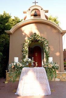 Elegant στολισμός εκκλησίας