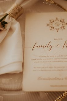 Chic προσκλητήριο γάμου