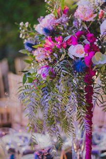 Centerpiece με πολυχρωμα λουλουδια