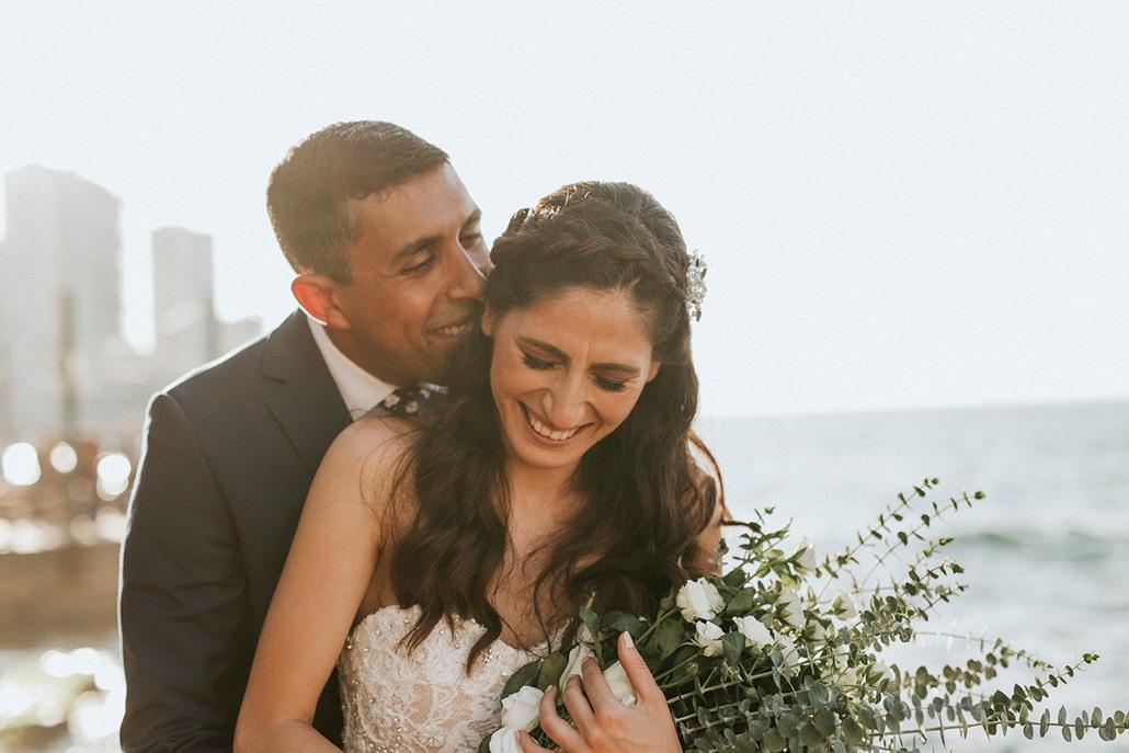 Πανέμορφος ρομαντικός γάμος στο Λίβανο με θέα τη θάλασσα