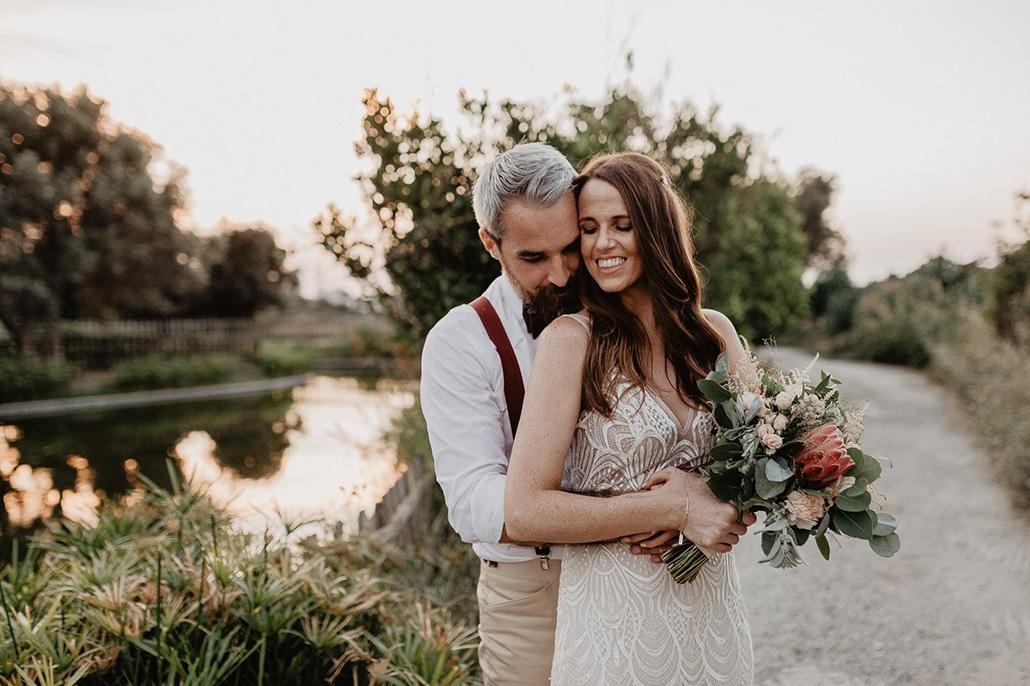 Ρουστίκ καλοκαιρινός γάμος στην Κρήτη σε παστέλ αποχρώσεις