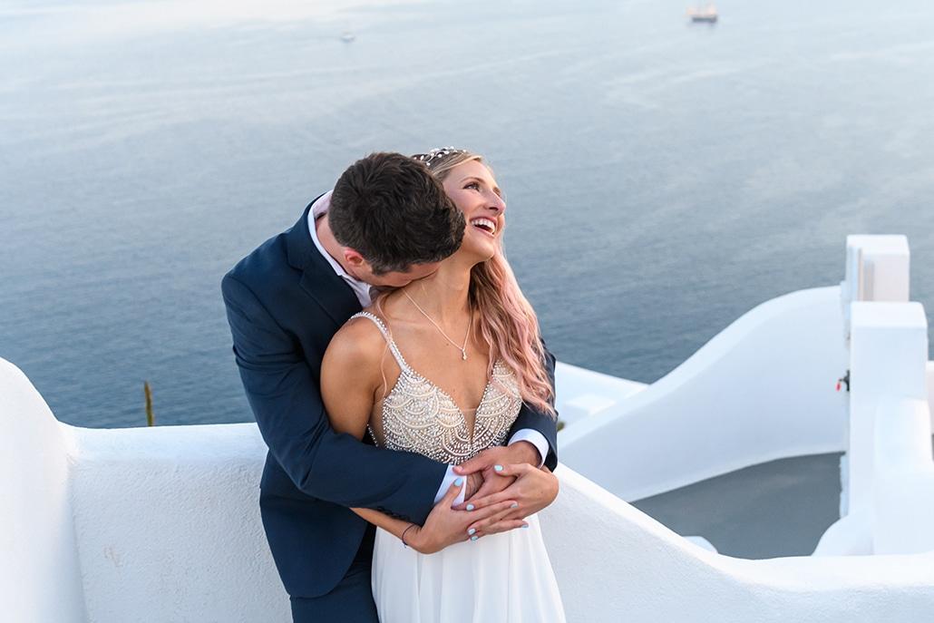 Υπέροχος ανοιξιάτικος γάμος στην Σαντορίνη με μαγευτική θέα │ Jana & Dimitri