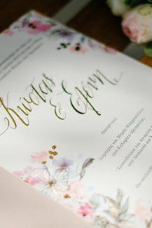 Chic floral προσκλητηρια