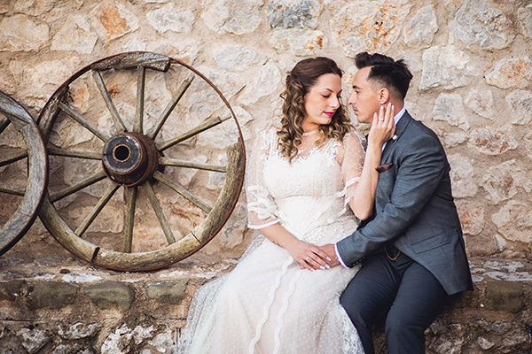 Vintage φθινοπωρινός γάμος στην Λαμία με ρομαντικές λεπτομέρειες │ Χριστίνα & Παναγιώτης