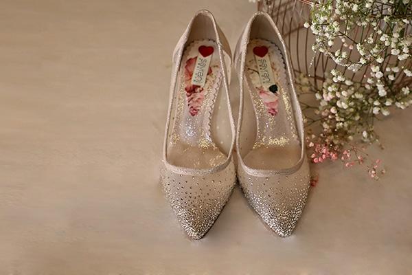 Παραμυθένια νυφικά παπούτσια από Savrani Creations │ Crystal Gardens Collection