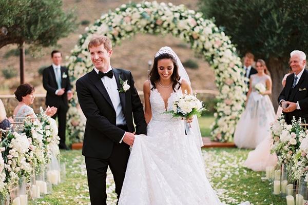 Ρομαντικός καλοκαιρινός γάμος στο Κτήμα Χατζή │ Taline & Brian
