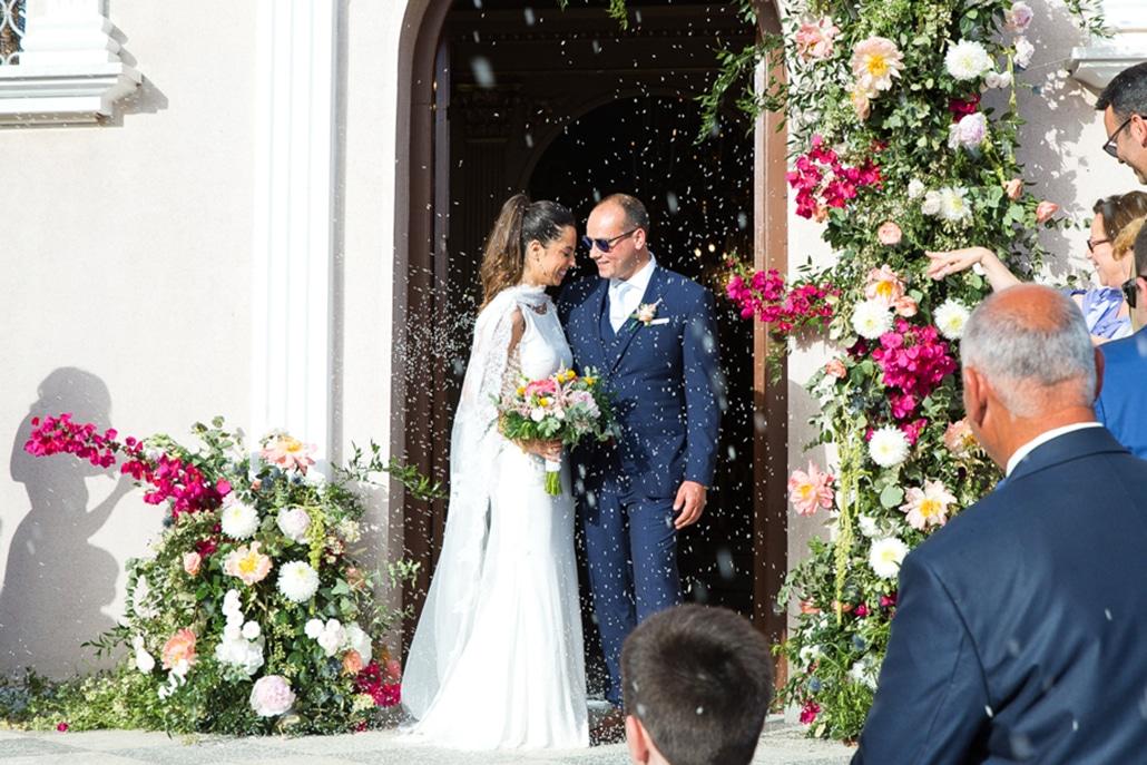 Υπέροχος καλοκαιρινός γάμος στην Κεφαλονιά με πινελιές του φούξια│ Κλεοπάτρα & Πιέρρος