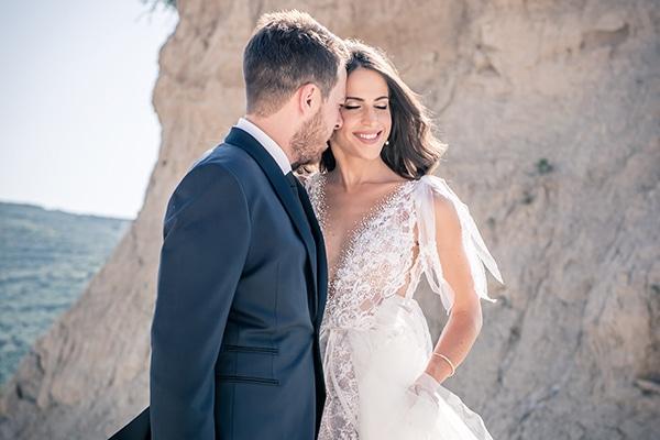 Υπέροχος καλοκαιρινός γάμος στα Χάνια Κρήτης με pampas grass και μπορντό λεπτομέρειες │ Ευαγγελία & Βαγγέλης