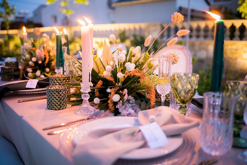 Βοhemian ιδέες διακόσμησης για έναν πολιτικό γάμο
