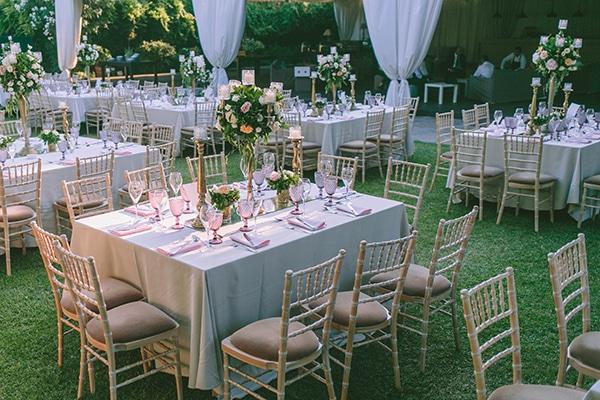 Ρομαντικος outdoor στολισμος δεξιωσης σε πανεμορφο κτημα