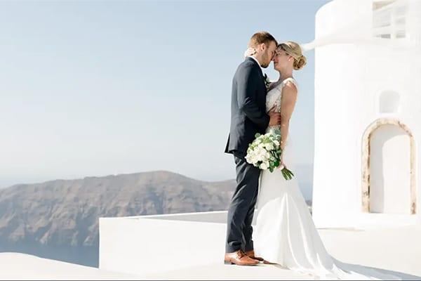 Ρομαντικό βίντεο γάμου στο Ημεροβίγλι Σαντορίνης │ Chelsea & Joshua