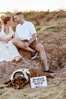 Πρωτότυπη ιδέα για prewedding φωτογράφιση μαζί με το σκυλάκι σας